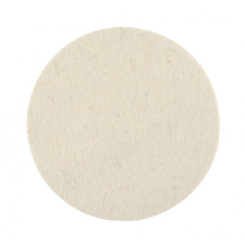 Tampon feutre de polissage blanc Ø77 blanc, lot de 2