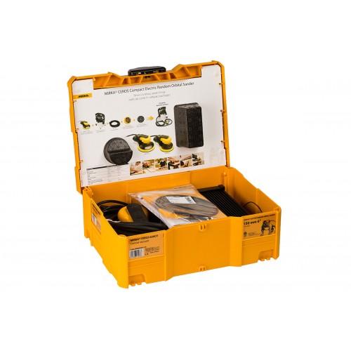 Ponceuse éléctrique Mirka CeroS 650 CV 150mm/5.0 dans son coffret