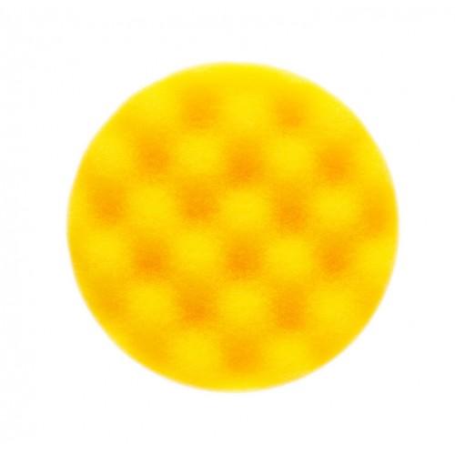 Mousse jaune avec alvéoles Ø 85 x 25 mm, 2/unité