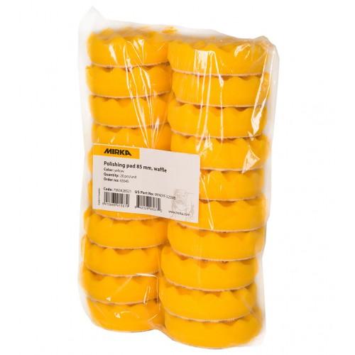 Mousse jaune avec alvéoles Ø 85 x 25 mm, 20/unité