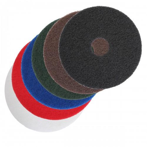 blanc Disques nylon abrasifs Ø 406 mm, ponçage et nettoyage