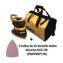 Kit Mirka DEOS DELTA + sac à outils Mirka + 75 abrasifs deltas Abranet ACE HD