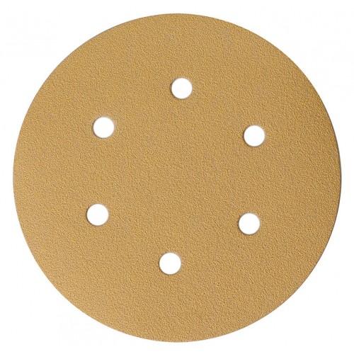 Gold disques autocollants 6 Trous Ø 150 mm