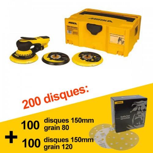 Ponceuse Mirka DEROS 650CV + 200 disques offerts