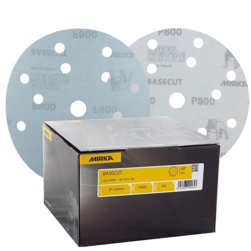 Basecut disques abrasifs ECO Ø 150 mm signés MIRKA pour bois, peinture et enduit