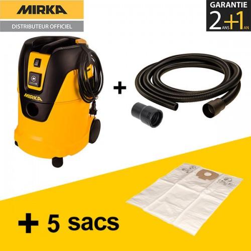 Aspirateur Mirka 1025 L + Tuyau aspiration 4m + 5 sacs