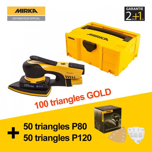 Ponceuse triangulaire Mirka DEOS 663CV Delta + systainer + 100 triangles GOLD